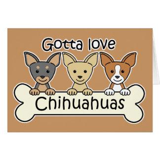 Three Chihuahuas Card