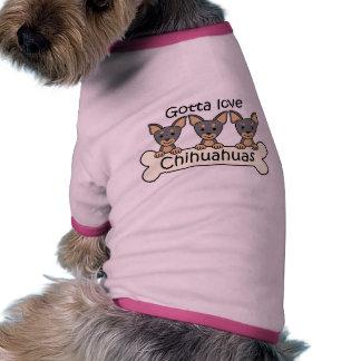 Three Chihuahuas Pet Clothes