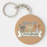 Three Chihuahuas Keychain