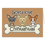 Three Chihuahuas Stationery Note Card