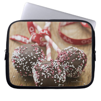 Three chocolate lollipops laptop computer sleeve