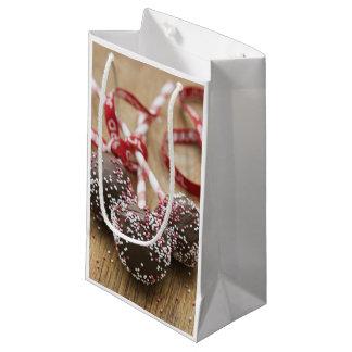 Three chocolate lollipops small gift bag
