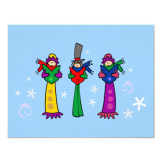Three Christmas Carolers Card
