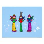 Three Christmas Carolers Invitation Invites