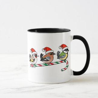 Three Christmas Finches (EU) Mug