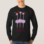 Three Christmas Flamingos Shirt