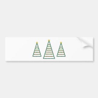 Three Christmas Trees Bumper Sticker