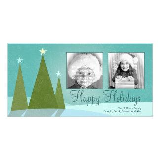 Three Christmas Trees Holiday Photo Cards