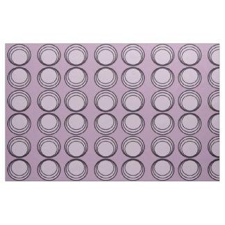 Three circles purple and black fabric
