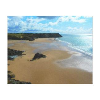 Three Cliffs Bay, Gower/Gwyr Canvas Print