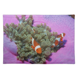 Three Clown Fishes on Sea Anemone, Andaman Sea Placemat