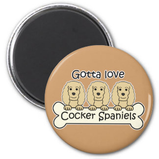 Three Cocker Spaniels Magnet