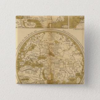 Three Colored Maps 15 Cm Square Badge