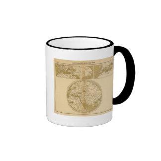 Three Colored Maps Coffee Mug