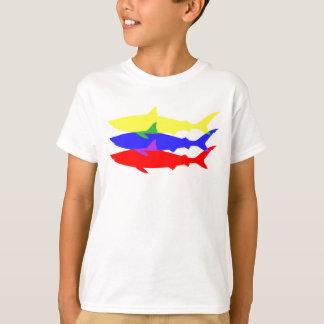 Three Colored Sharks T-Shirt