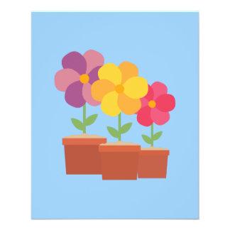 Three colorful Flowers Zo728 11.5 Cm X 14 Cm Flyer