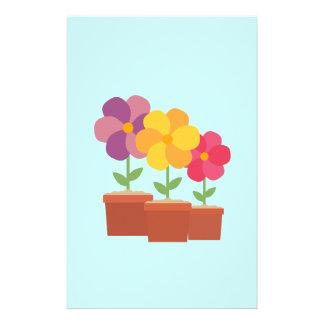 Three colorful Flowers Zo728 14 Cm X 21.5 Cm Flyer