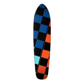 Three Coloured Tiles Design Custom Skate Board