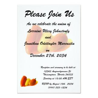 Three Cone White Habanero Peppers Orange Yellow 13 Cm X 18 Cm Invitation Card