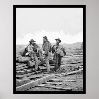 Three Confederate Prisoners at Gettysburg 1863 Poster