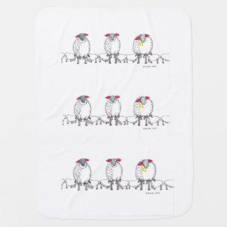 Three Cornish Mommy Sheep Feeding Their Babies Baby Blanket