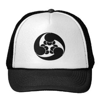 Three counterclockwise clove swirls cap