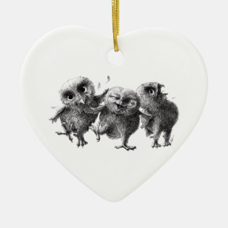 Three Crazy but Cunning Owls Christmas Ornament