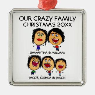 Three Crazy Sons Ornament