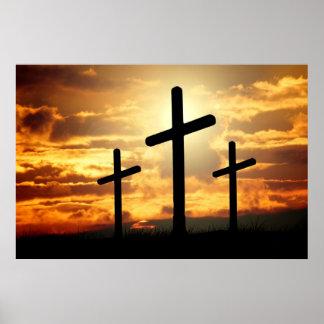 Three Cross Poster