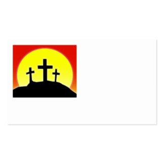 Three Crosses Business Card Design