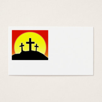 Three Crosses Business Card Design