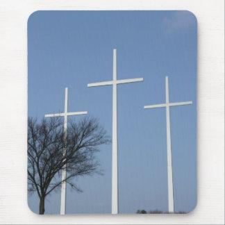 Three Crosses Mouse Pad