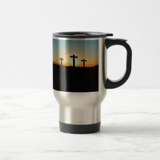 Three crosses travel mug