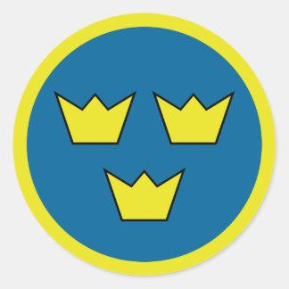 Three Crowns Round Sticker