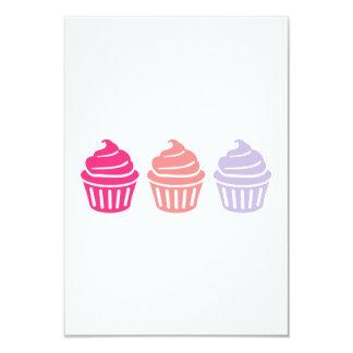 Three cupcakes invites