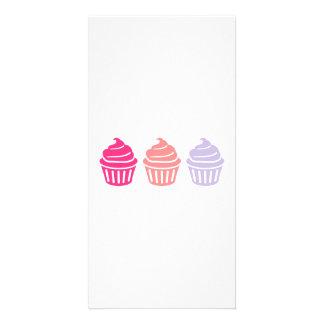 Three cupcakes photo cards