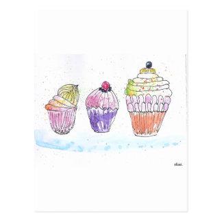 Three Cupcakes Post Card