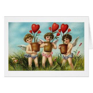 Three Cupids (2) Greeting Card
