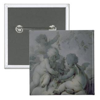 Three Cupids, c.1775 15 Cm Square Badge