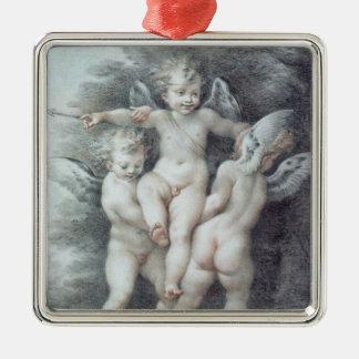 Three Cupids Christmas Ornament