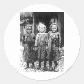 Three Cute Little Girls Vintage South Carolina Round Sticker