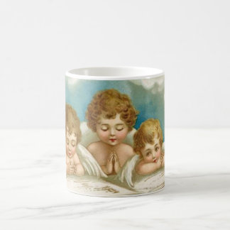 Three cute praying angels mug