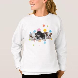 Three Cute Puppies (dogs) Sweatshirt