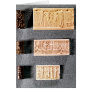 Three cylinder seals with impressions, card