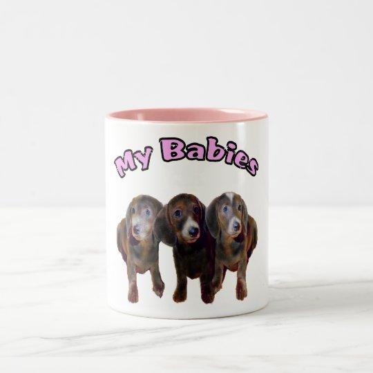 Three Dachshund Dogs Mug