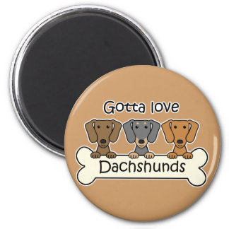 Three Dachshunds Magnet