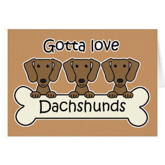 Three Dachshunds Note Card