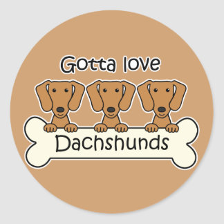 Three Dachshunds Stickers