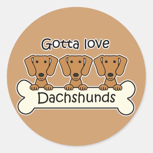 Three Dachshunds Stickers