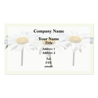 Three Daisies In a Row Pack Of Standard Business Cards
